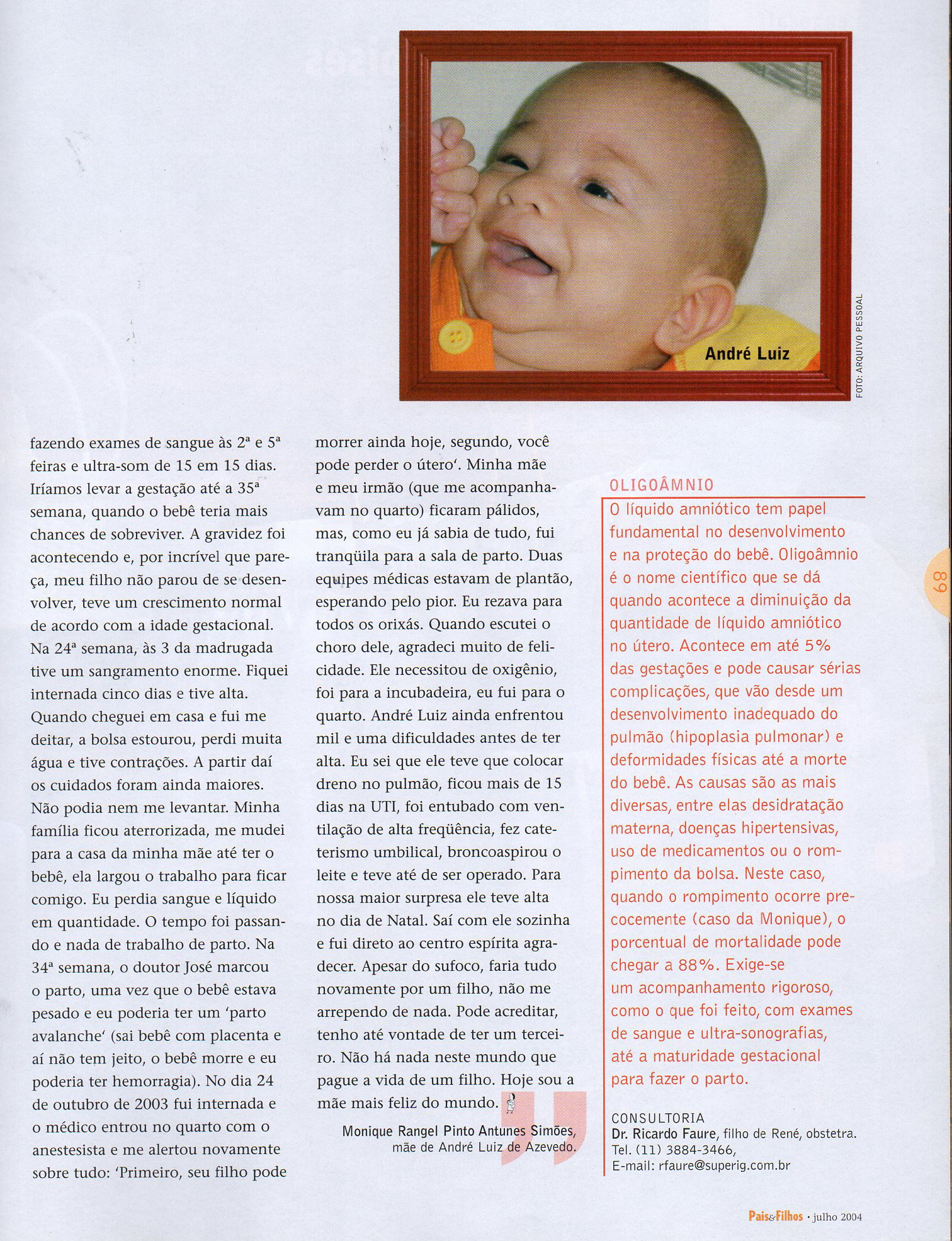Pais e Filhos julho 2004 a